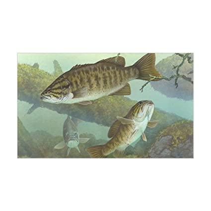 cbcef4af6 Amazon.com: CafePress Underwater Bass Fishing Rectangle Bumper Sticker Car  Decal: Automotive