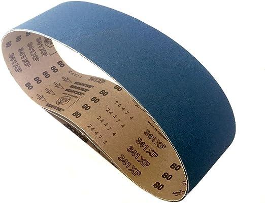 Sanding Belts 6 X 48 Zirconia Cloth Sander Belts 80 Grit 6 Pack