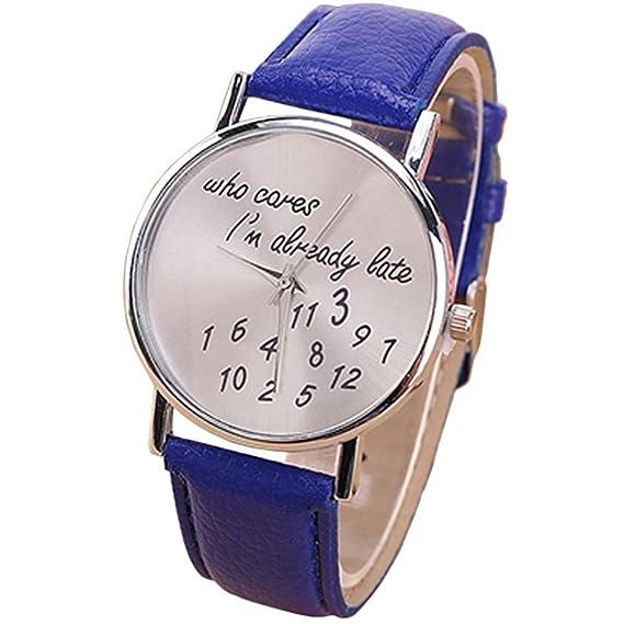 Rosepoem Relojes analógicos de cuarzo Relojes minimalistas de moda Reloj Jelly Pu Strap Reloj simple para mujeres damas Azul: Amazon.es: Relojes