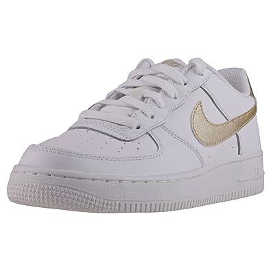 2140c8b16d78 NIKE Unisex-Kinder Air Force 1 GS 314219-127 Sneaker, Mehrfarbig (White