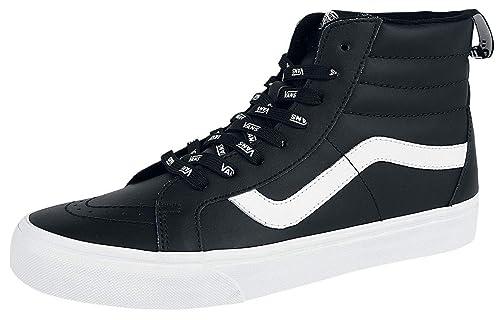 94e7634c85 Vans SK8-Hi Reissue OTW Webbing Sneakers High Black-White  Amazon.co ...