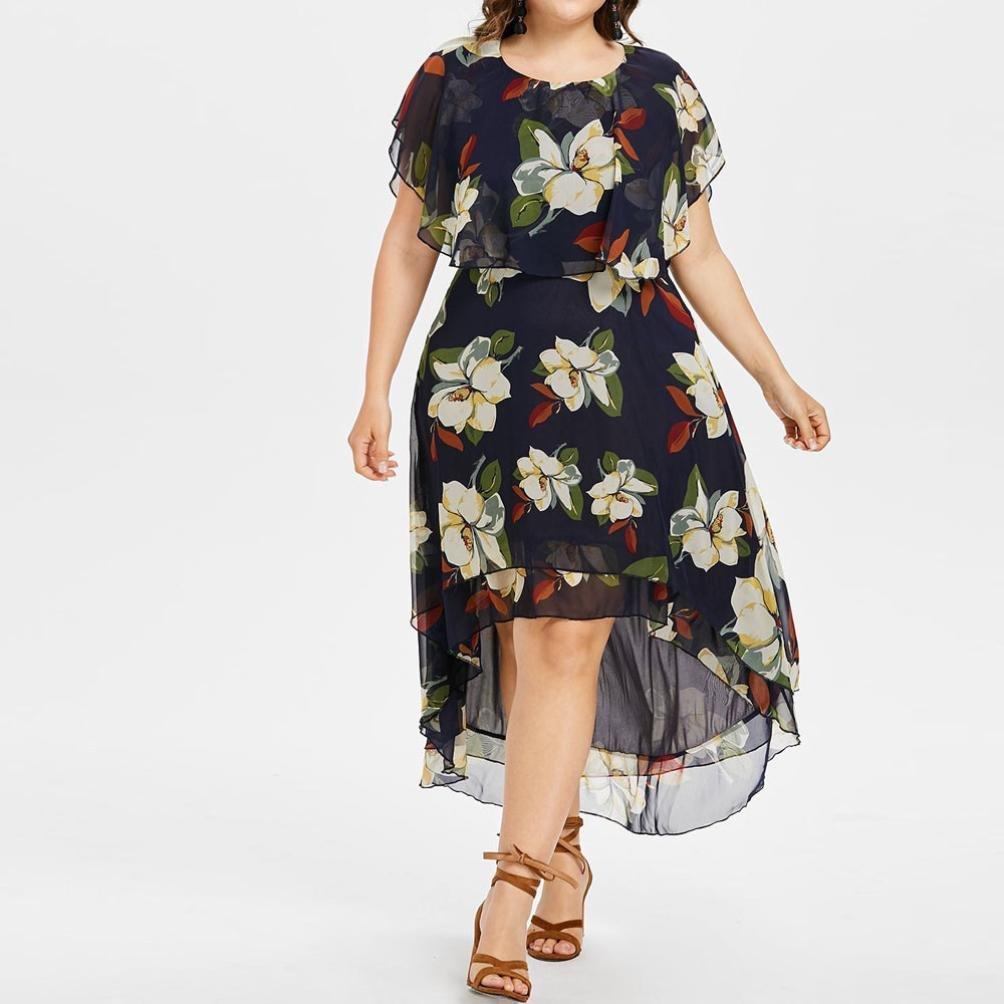 Amazon.com: Gyoume - Vestido para mujer, talla grande ...