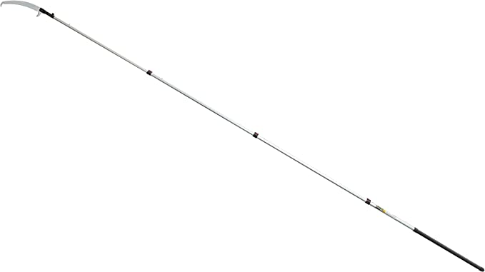 Adjustable 3-Section Fiberglass Poke Pole for Creek Fishing w// Metal Tip Eye