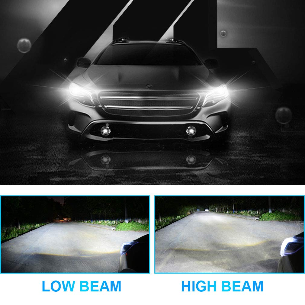 40W 4000LM 6000K 12 x CSP Chips Extremely Bright LED Car Bulbs IP68 Waterproof LED Headlight Bulbs All-in-One Conversion Kit DOT Certified 2 Pack H11 H8 H9 H11//H8//H9 LED Headlight Bulbs by NFYOI