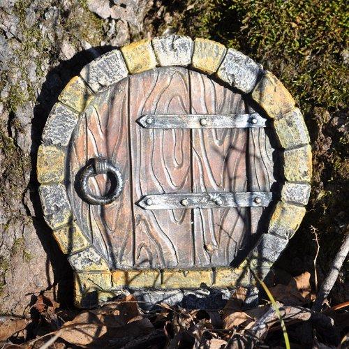 Miniature Fairy Garden Gnome Door, Round