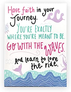 "Inspirational Canvas Wall Art (12x16"") Mermaid Poster Positive Quotes Wall Decor For Teens, Kids, Girls, Dorm, Bedroom, Classroom, Playroom"