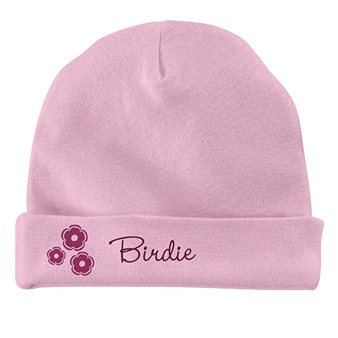 Infant Baby Hat FUNNYSHIRTS.ORG Baby Girl Birdie Flower Hat