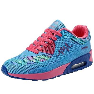 d20da77a24 Moonuy Femmes New Rainbow Sports Chaussures Mode Femmes Multicolore Baskets  Dames Casual Chaussures À Lacets Respirant Plateforme De Course Chaussures  Été: ...