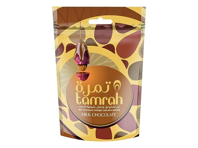 Tamrah Almendras y Cubiertas con Chocolate con Leche - Paquete de 24 x 100 gr -