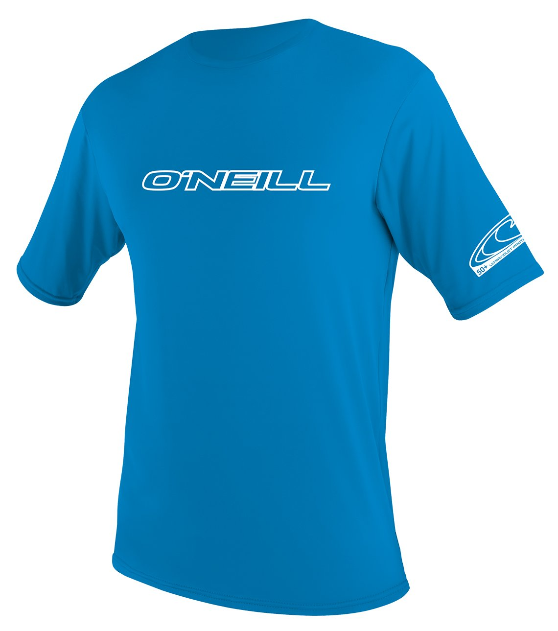 O'Neill Wetsuits Wetsuits UV Sun Protection Youth Basic Skins Short Sleeve Tee Sun Shirt Rash Guard, Bright Blue, 14 by O'Neill Wetsuits