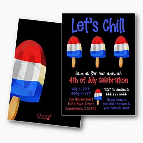 amazon com popsicle let s chill red white blue 4th of july bbq