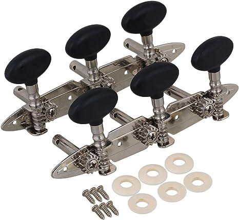 Negro 3R3L Clavijas de sintonización de guitarra Cabeza de máquina ...