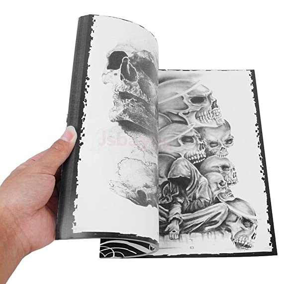 Amazon.com: 76 Pages Selected Skull Design Sketch Flash Book Tattoo Art Supplies A4: Beauty