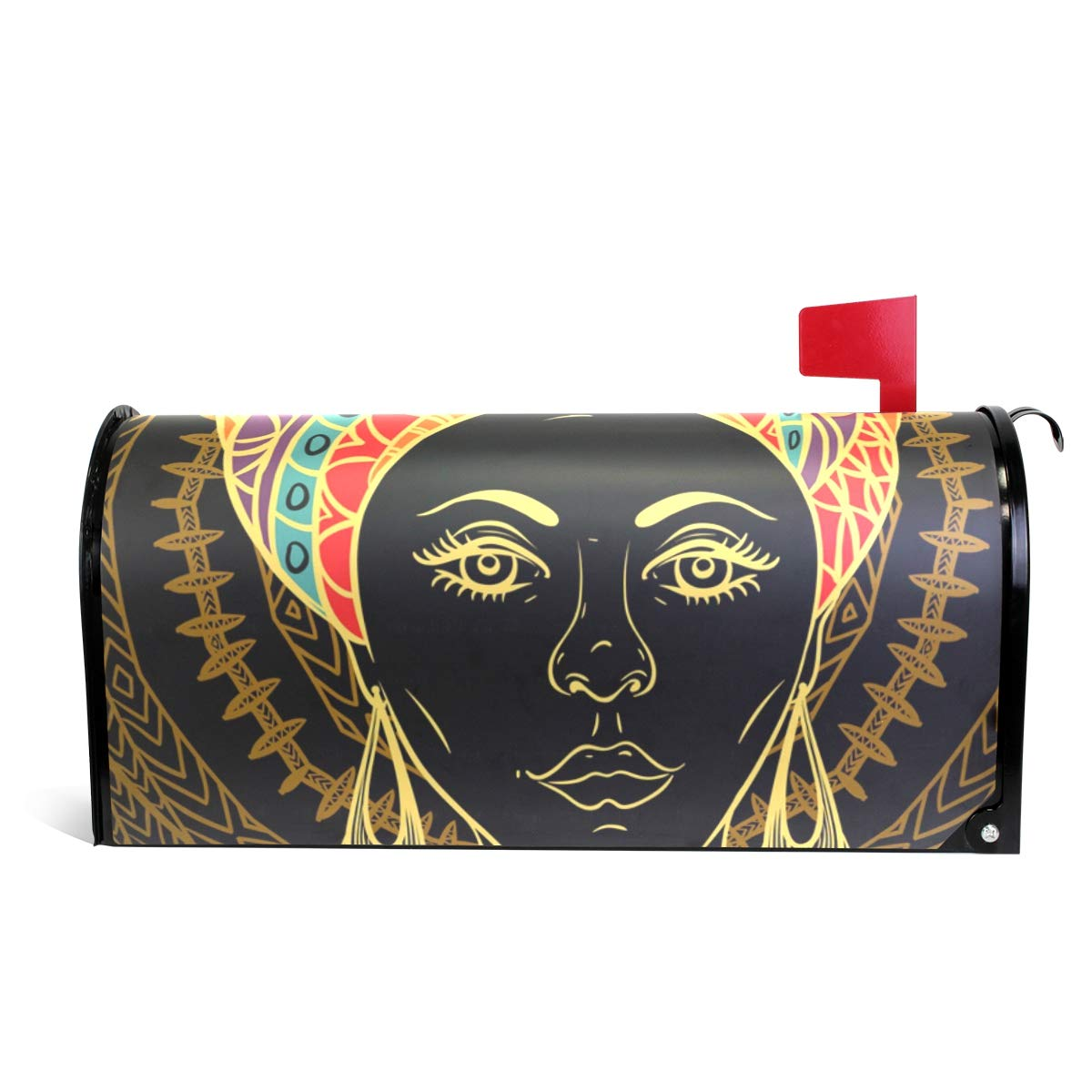ALAZA Beautiful African Woman Magnetic Mailbox Cover Standard Size-18''x 20.8''