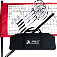 Park & Sun Sports Portable Outdoor Badminton Net System with Carrying Bag and Accessories: Sport Se