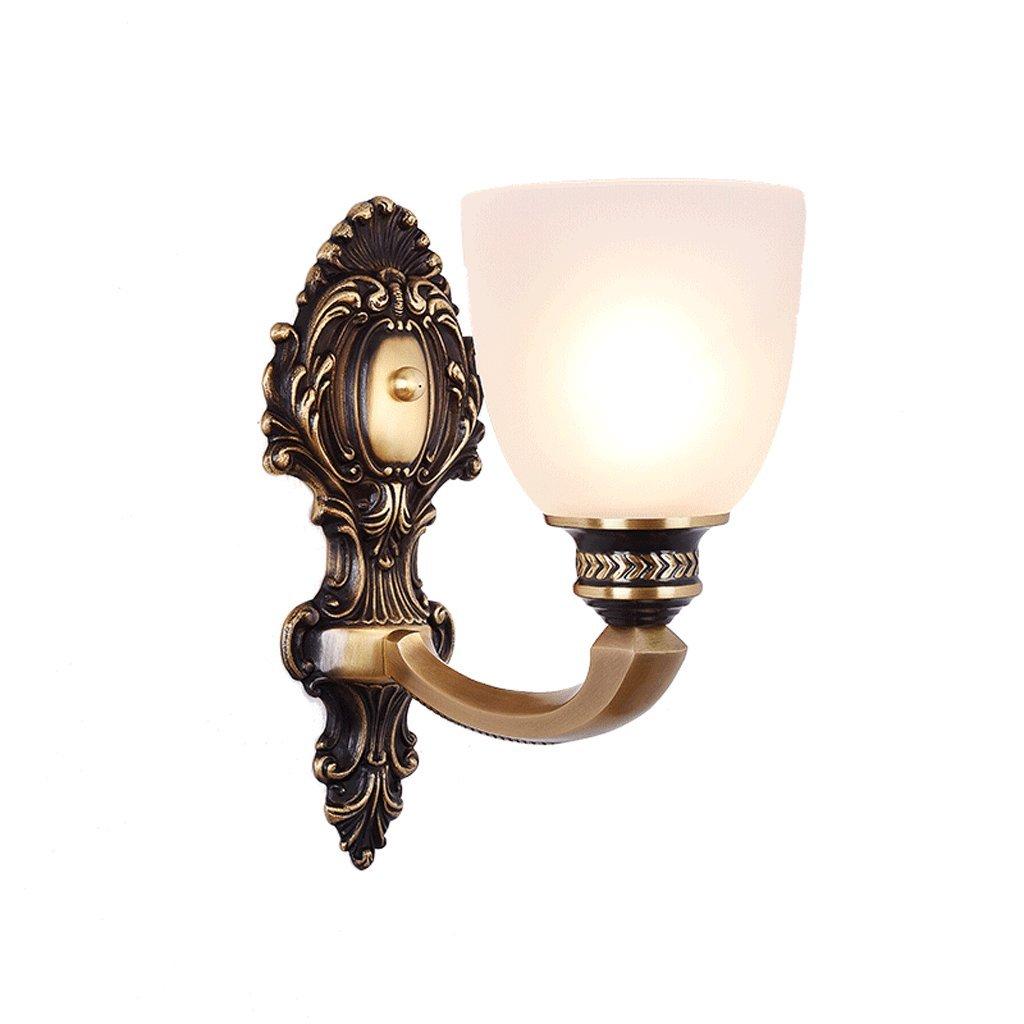 Kupfer Wandleuchte Schlafzimmer Nachttischlampe Gang Luxus Lampen E27