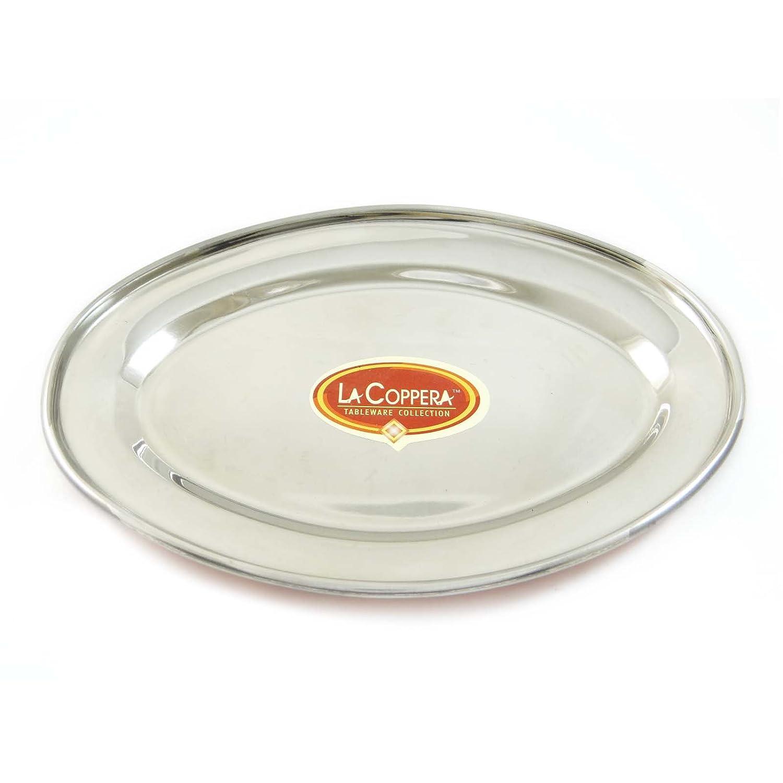 Traditionnellement Con/çu Dish Copper Steel Oval Bowl Vaisselle Vaisselle Ustensile