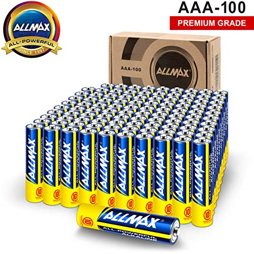 ALLMAX All-Powerful Alkaline Batteries - AAA (100-Pack) - Premium Grade, Ultra Long Lasting and...