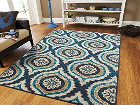New Small Rug For Living Room and Kitchen 2x3 Rugs with Circles 2x4 Rug Blue Navy Foyer Rugs Door Mat Indoor Outdoor Rugs For Bedroom, (Blue And Green Bedroom Rugs)