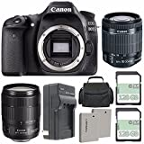 Canon EOS 80D DSLR Camera (Body Only) + Canon EF-S 18-55mm f/3.5-5.6 IS STM Lens + Canon EF-S 18-135mm f/3.5-5.6 IS USM Lens + Extra Battery + Charger + 128GB + Carrying Case + Bundle 80