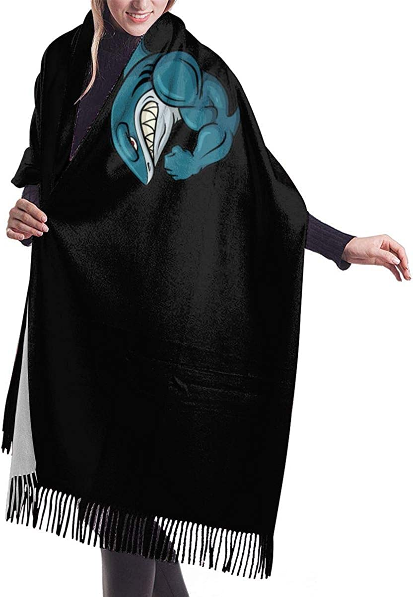 Shark Cashmere Wrap Shawl Stole For Women Winter Extra Large Solid Lambswool Pashmina Scarf