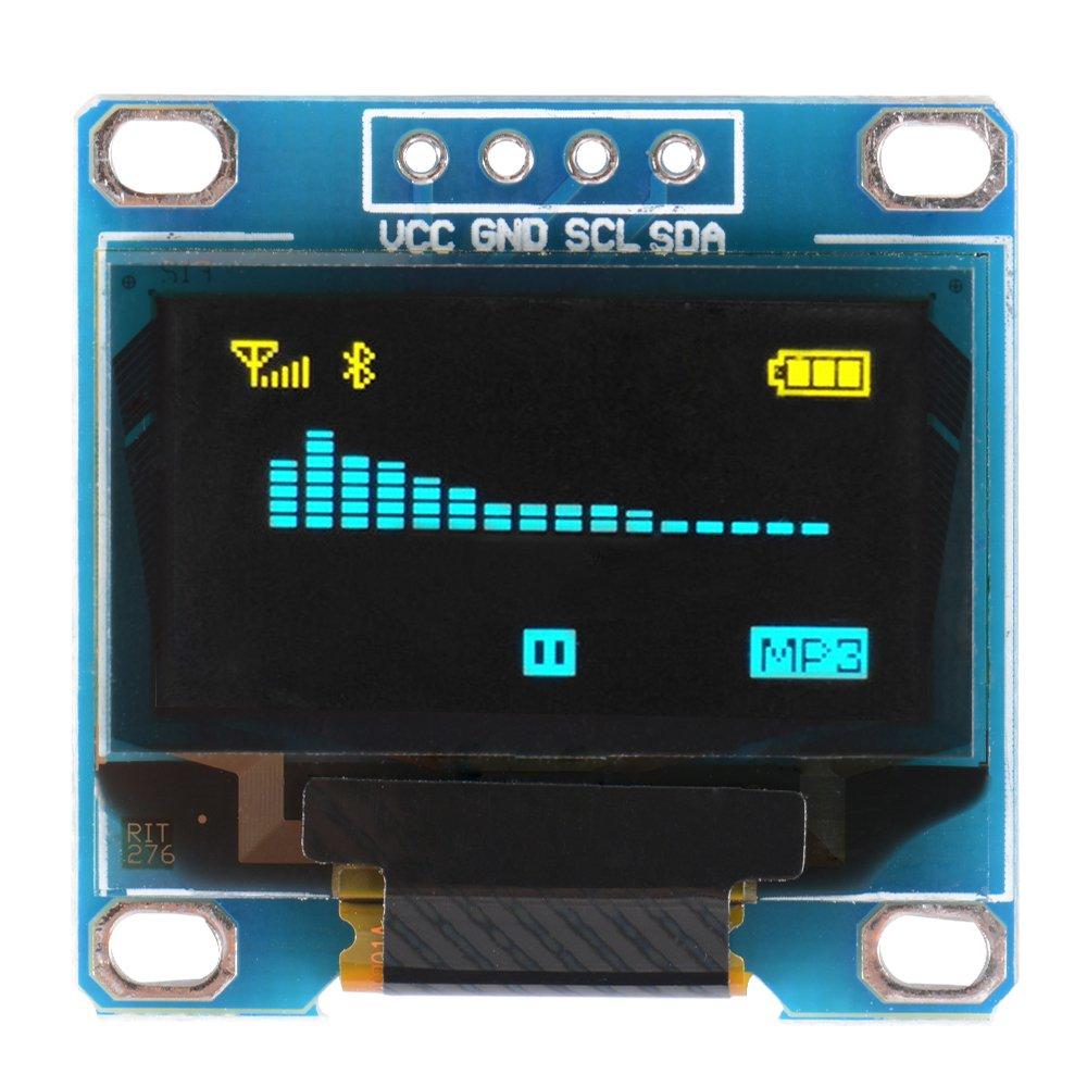 """XCSOURCE Carte Module SSD1306 0,96"""" I2C IIC SPI série 128x64 Affichage OLED avec Réglettes à Broches pour Arduino TE711"""