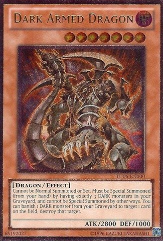 Amazon.com: Yu-Gi-Oh! - Dark Armed Dragon (TU06-EN000) - Turbo Pack 6 - Promo Edition - Ultimate Rare by Yu-Gi-Oh!: Toys & Games