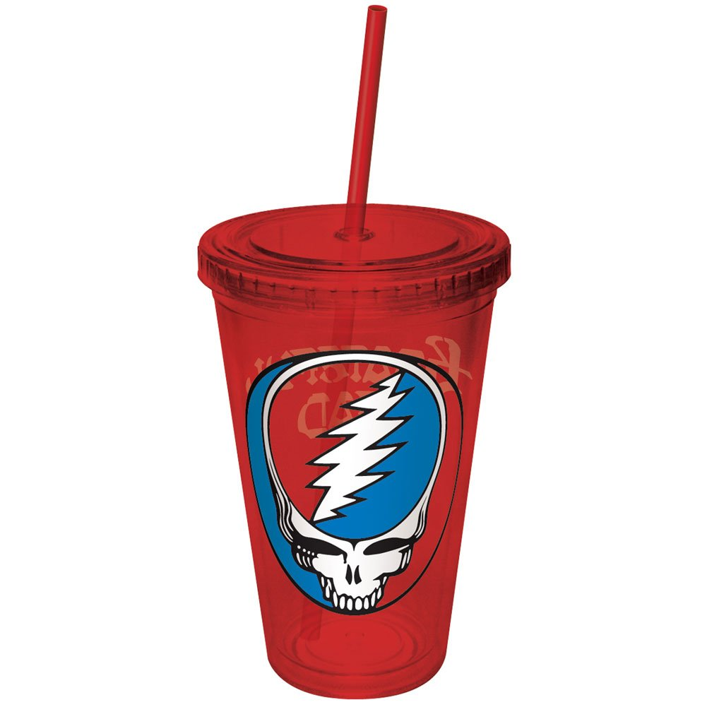 ICUP Grateful Dead Steal Red Cup with Straw, Clear