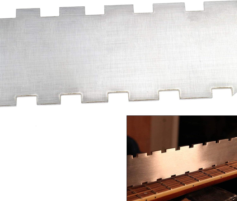 YINETTECH 42 cm Collo della Chitarra Dentellato Bordo Dritto lithiers Strumento di Riparazione liutieri Tastiera Righello per Chitarre elettriche Misura