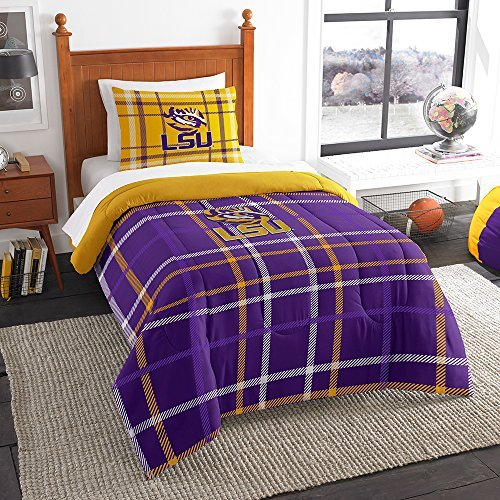 Northwest COL 835 Sham NOR-1COL835000046BBB 64 x 86 LSU Tigers NCAA Twin Comforter Set, Soft & Cozy