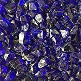 Celestial Fire Glass Crushed Fire Glass - Cobalt Blue (1/2'' to 3/4'') | 10 Pound Jar, by
