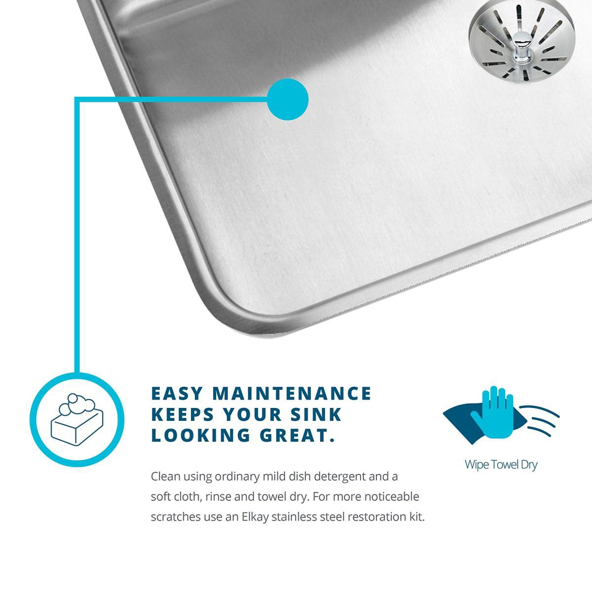 Elkay Lustertone LTR46226 Triple Bowl Top Mount Stainless Steel Kitchen Sink by Elkay (Image #3)