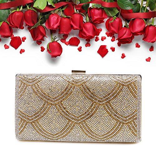 Bridal Purse Handbag Bar gold Prom Evening Clutch Dance for Ya05 Wedding Bag Womens Bags Party wx0qXZBIn