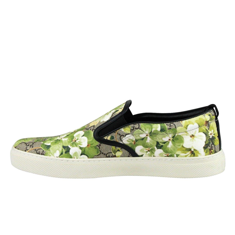b10adf90c22 Amazon.com  Gucci Bloom Flower Print Supreme GG Green Canvas Slip Sneakers  407362 8961  Shoes