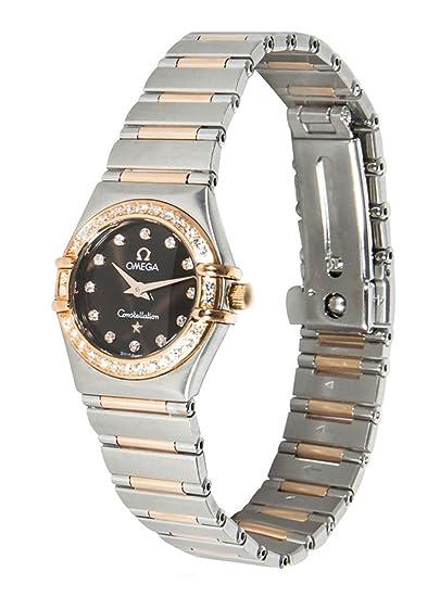 Omega constelación dos tono diamante cuarzo Mini reloj de pulsera para mujer 1360.60