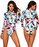Funnygirl Women's Fashion Printing Rashguard Long
