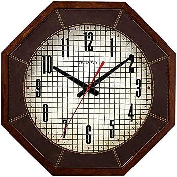 Amazon Com Bulova Gymnasium 18 In Wall Clock Home Amp Kitchen