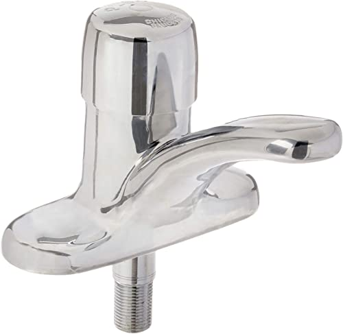 Chicago Faucets Faucet, Metering, Push, 1 2 In. Male NPSM, Chrome