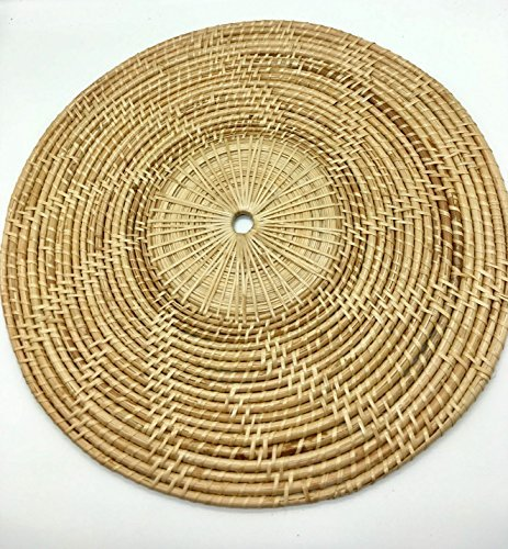 Seven One Round Rattan Placemats, Serving Mats, Coasters