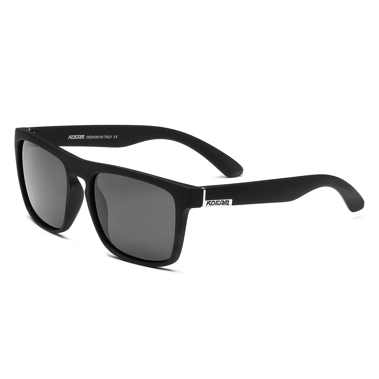 a83a0f8fe6 K KDEAM Square Polarized Sunglasses For Men Women Unisex Driving Vintage  UV400