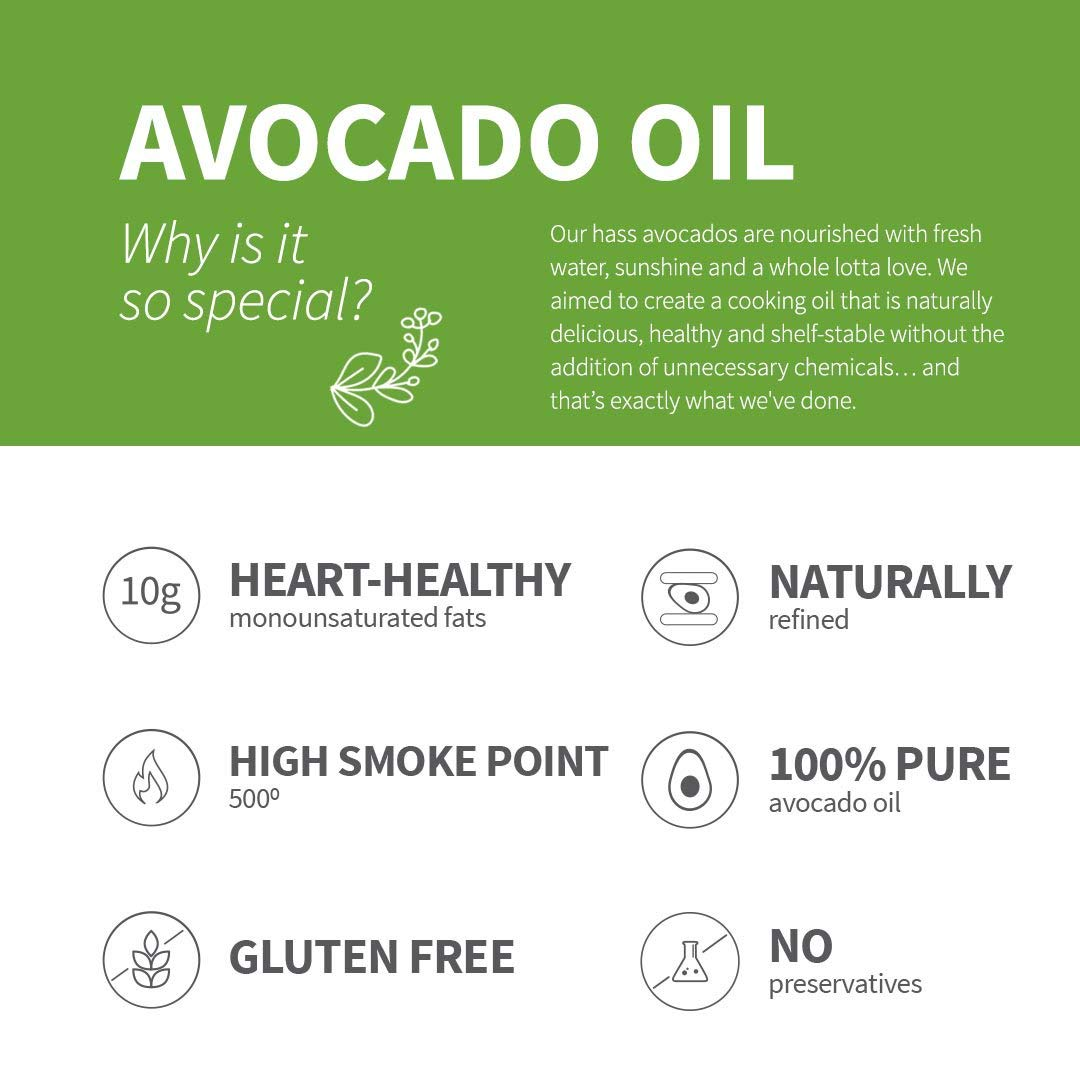 Chosen Foods 100% Pure Avocado Oil Spray 4.7 oz. (3 Pack), Non-GMO, 500° F Smoke Point, Propellant-Free, Air Pressure Only for High-Heat Cooking, Baking and Frying by Chosen Foods (Image #7)