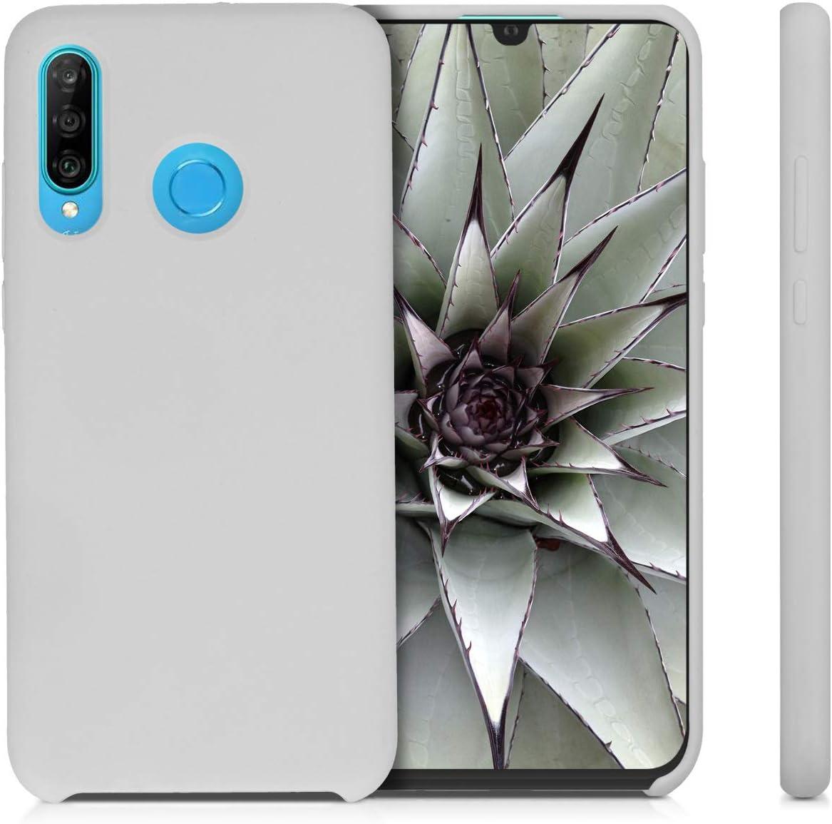 Carcasa de TPU para m/óvil Cover Trasero en Malva kwmobile Funda Compatible con Huawei P30 Lite
