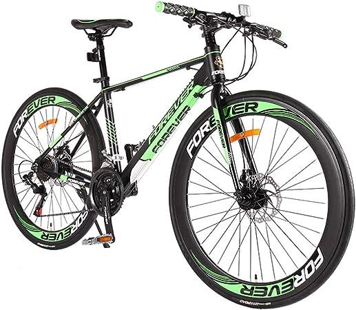 NENGGE Adulto Bicicleta de Carretera, 21 Velocidades Freno de Disco Mecánico Bicicleta de Carreras, 700C Neumáticos, Aluminio Marco Bicicleta Urbana,Verde: Amazon.es: Hogar