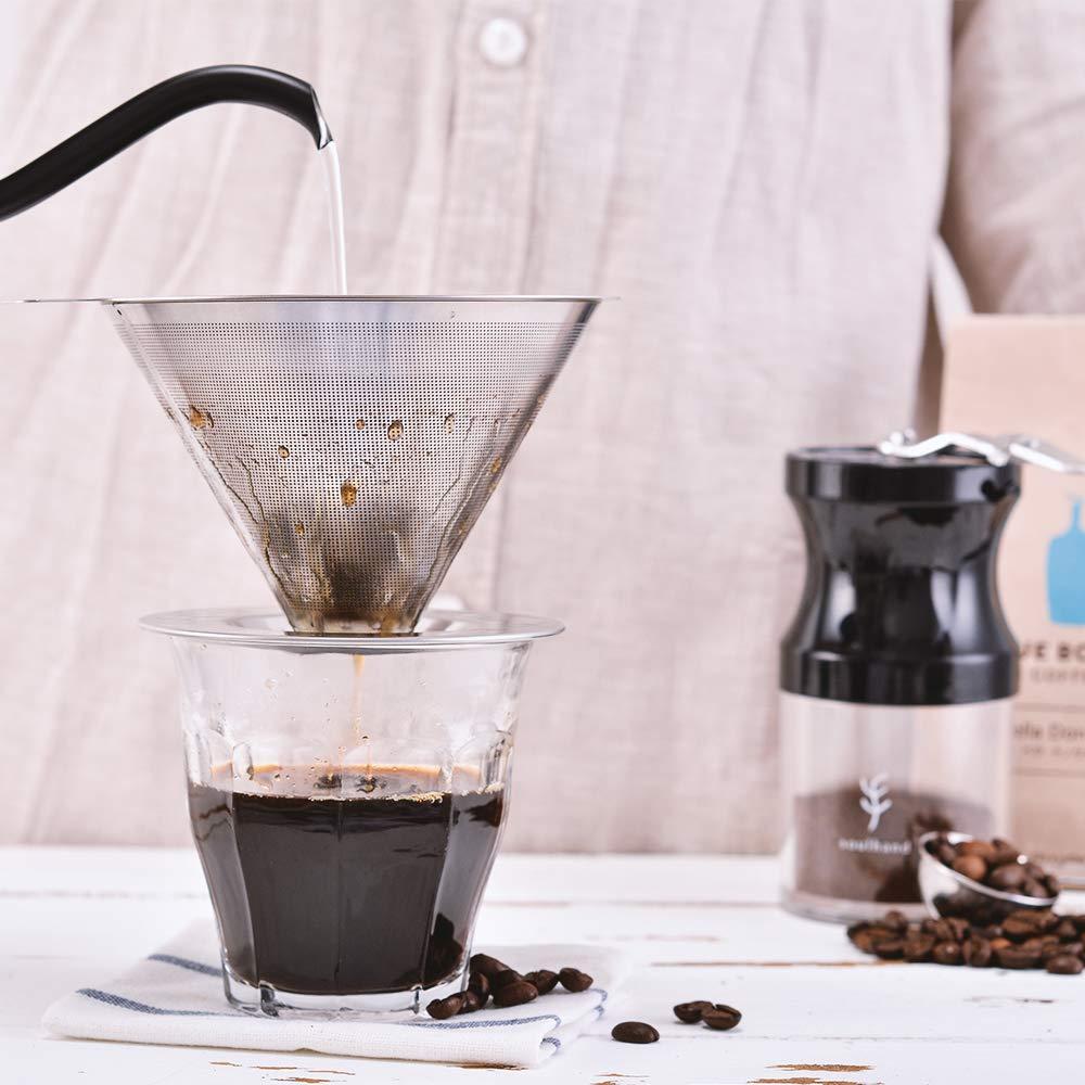 Filtro de Café Cono Reutilizable de Acero Inoxidable Filtro sin ...