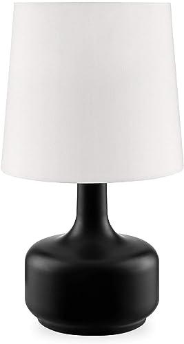 OK Lighting AZOK819BK Cheru Black Table Touch Lamps