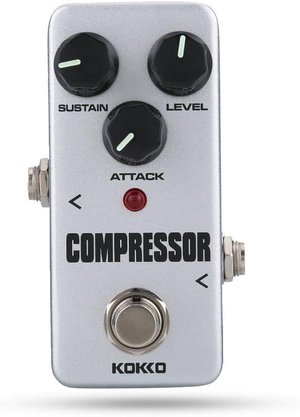 Dilwe Pedal de Efectos de Guitarra, Accesorio de Pedal de Sustain de Mini Compresor Accesorio de Instrumento de Pedal para Guitarra Eléctrica