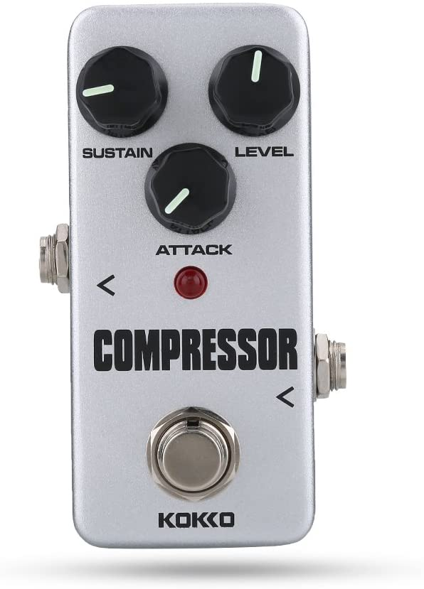 Zetiling Compresor de Guitarra, Pedal Antideslizante de Efecto de compresor portátil para Accesorios de Guitarra eléctrica