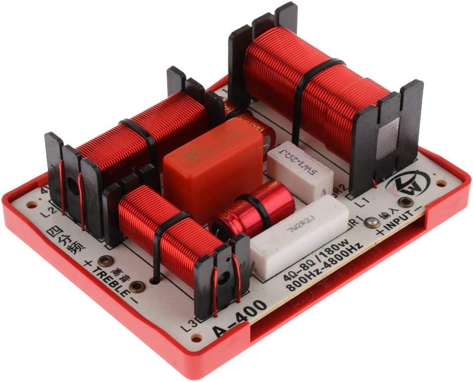 KESOTO Nuevo 180W Altavoces Bajo de Audio Frecuencia Divisor Filtros de Cruce de 4 Vías
