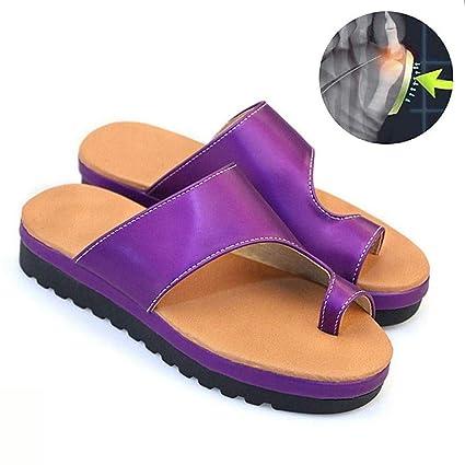 WSXZ Cómodas Zapatos De Mujer con Sandalias con Plataforma De Juanete,Mujer Sandalia Juanetes Corrección