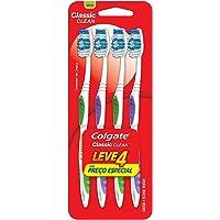 Escova Dental Colgate Classic Clean, 4 Unidades, Cores sortidas